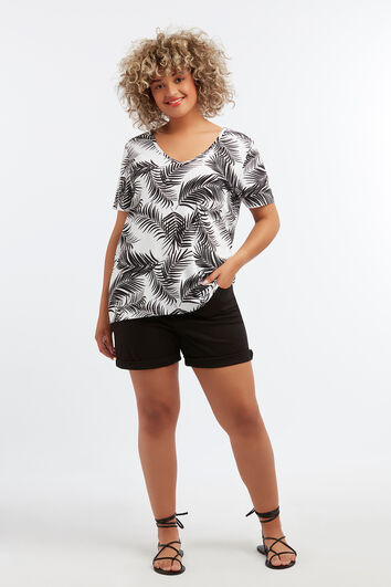 Basic T-shirt met print