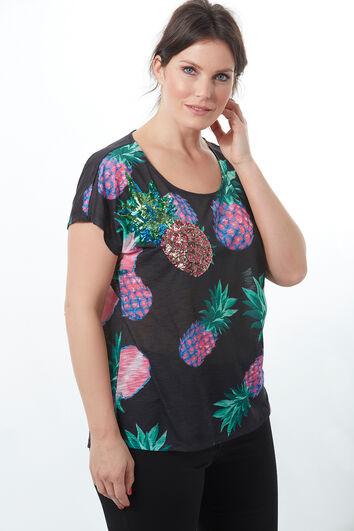 T-shirt met ananasprint
