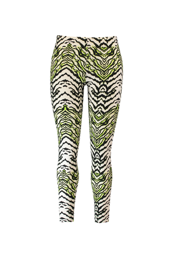 Neon legging met zebraprint