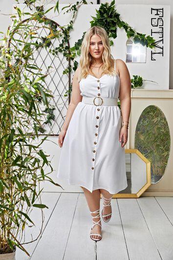 Doorgeknoopte jurk