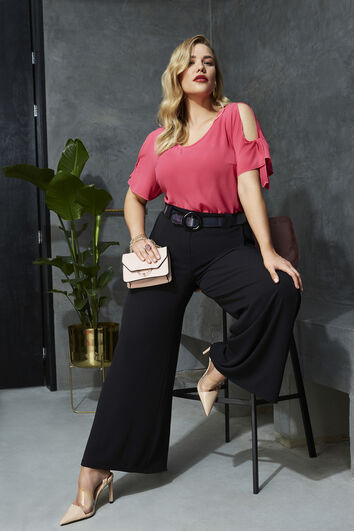 Blouse met cold-shoulder