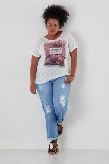 T-shirt met cactus print