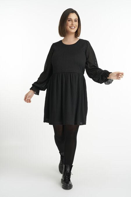 A-lijn jurk met pofmouw