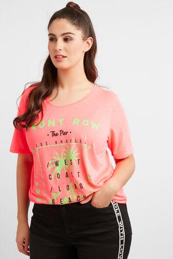 T-shirt met neon opdruk