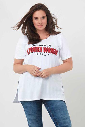 Lang shirt met tekst