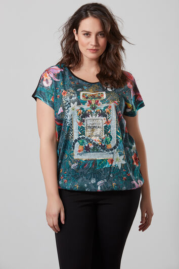Shirt met print op de voorzijde