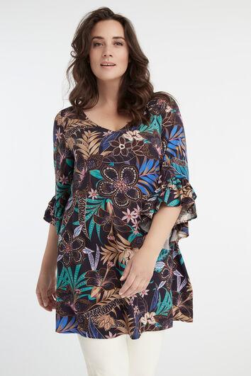Lange blouse met bloemen print
