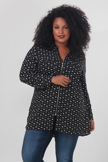 Lange blouse met rits