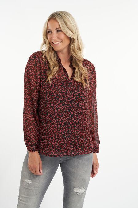 Semitransparante blouse