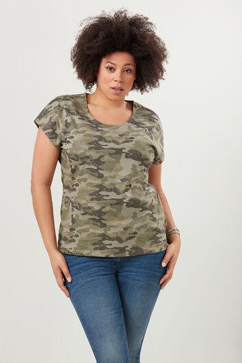 T-shirt met camouflageprint