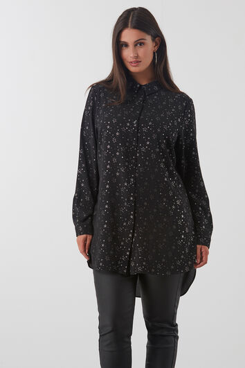 Lange blouse met all over print