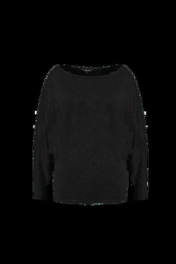 Zwarte lurex trui