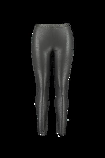 Wetlook legging met craquelé print