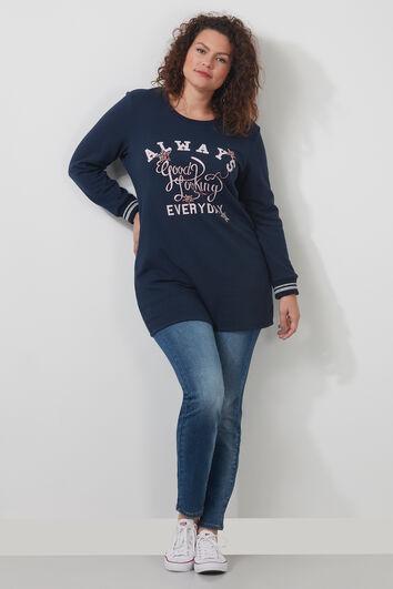 Sweater met tekstprint