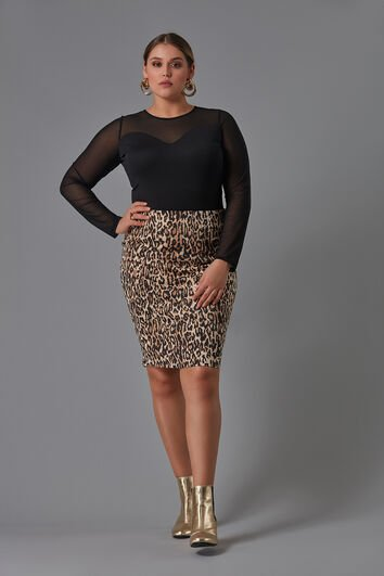 Rok met animalprint