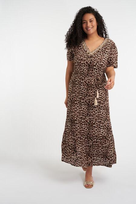Maxi jurk met luipaardprint