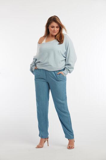 Losvallende broek van Tencel