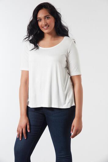 T-shirt met langere achterzijde