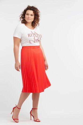 T-shirt met tekst en strass