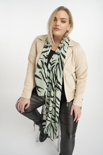 Sjaal met zebra print