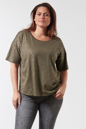 T-shirt met glitterprint