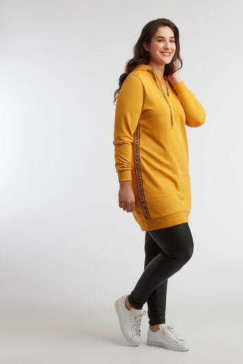 Sweater jurk met sportbies