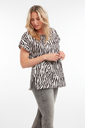 Top met zebraprint