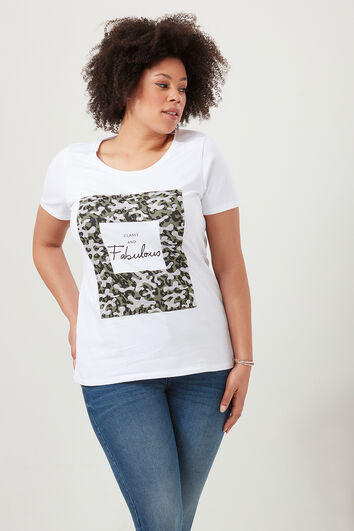 T-shirt met printopdruk