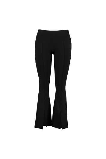Flared broek met splits
