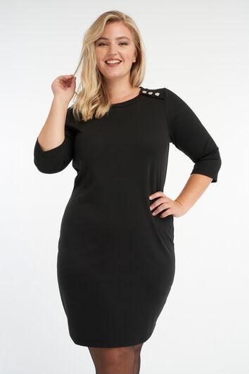 Bodycon jurk met knopen detail