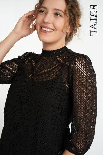 Semi tranpsarante blouse
