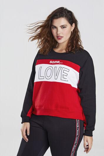 Sweater met tekstopdruk