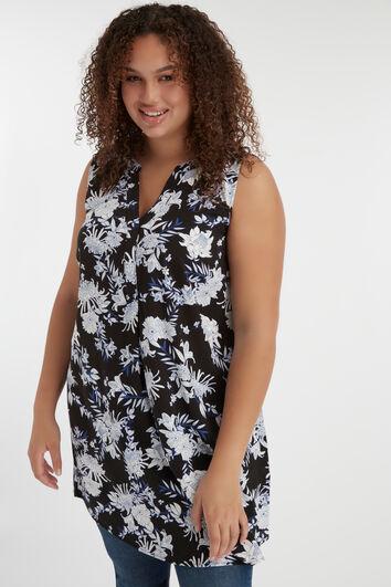 Mouwloze lange blouse