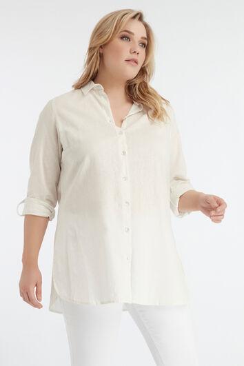 Lange effen blouse