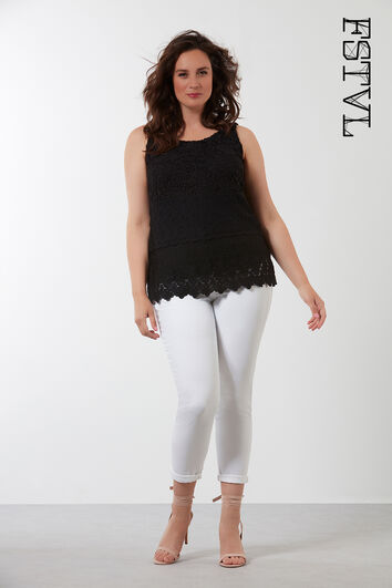 Mouwloze crochet top