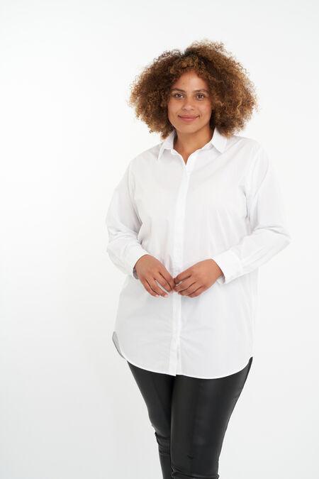 Oversized poplin blouse