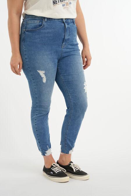 Jeans met destroyed detail