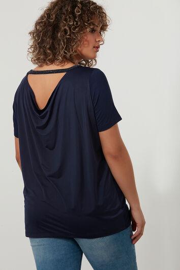 Luxe T-shirt met gedrapeerde achterkant