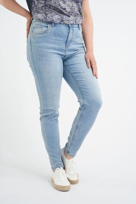 Jeans met zijdetail