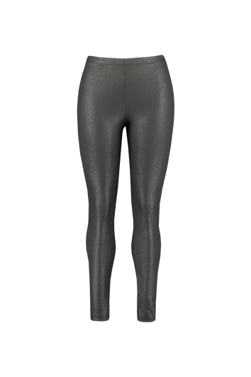 Wetlook legging met slangen print