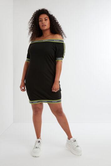 Aansluitende jurk met logoprint