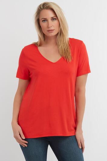 T-shirt in effen kleur