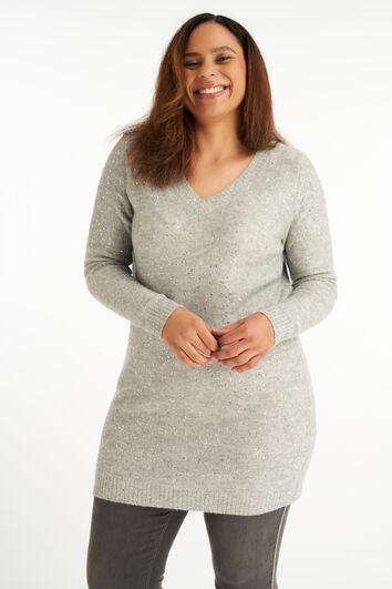Lange trui met pailletten