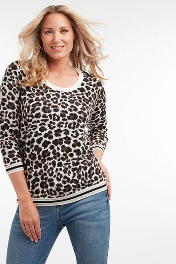 Trui met luipaardprint