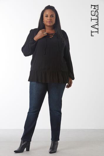 FSTVL blouse met rijgdetail